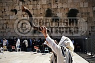 Kotel Blowing The Shofarf 021