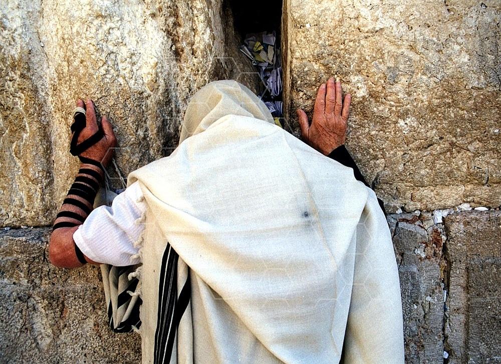 Kotel Man Praying 096