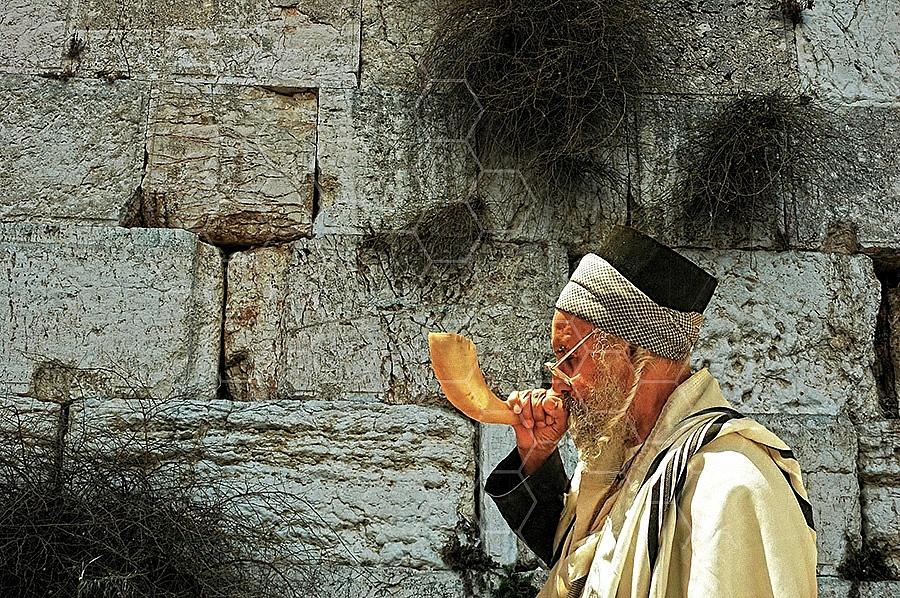 Kotel Blowing The Shofarf 012