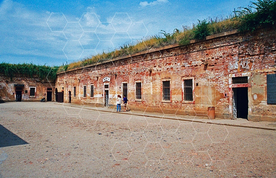 Terezin Courtyard and Cells 0001