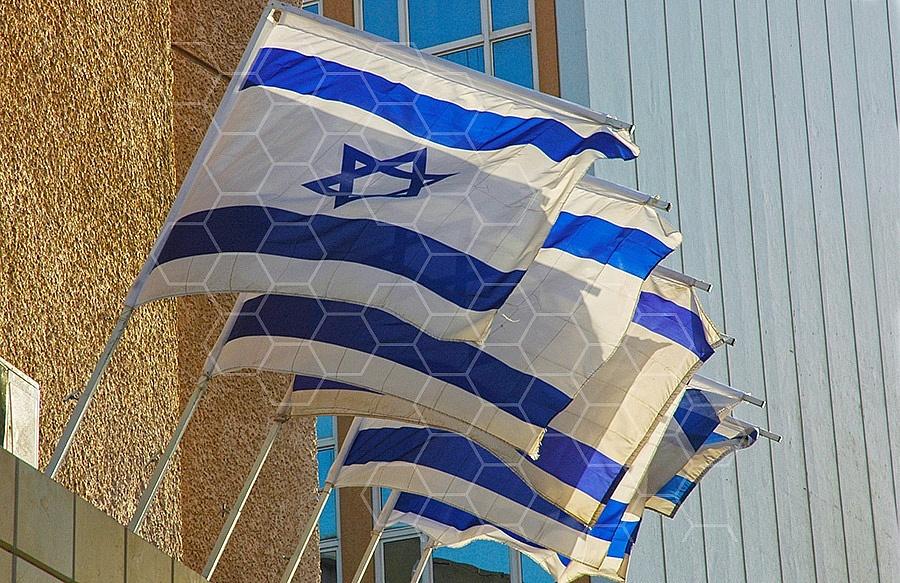 Israel Flag 044