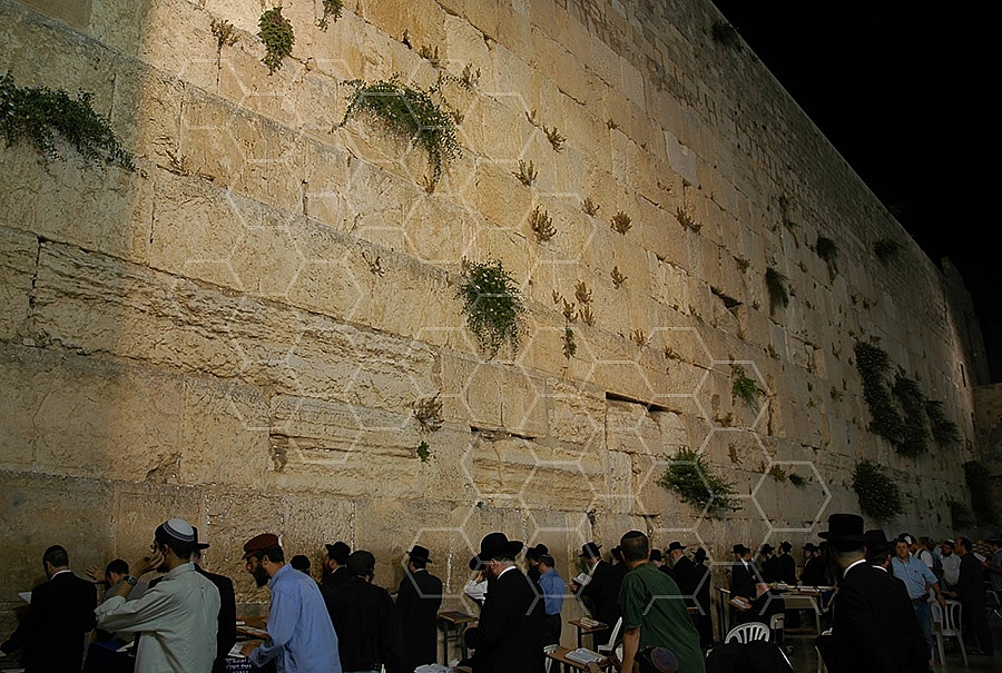 Kotel View At Night 007