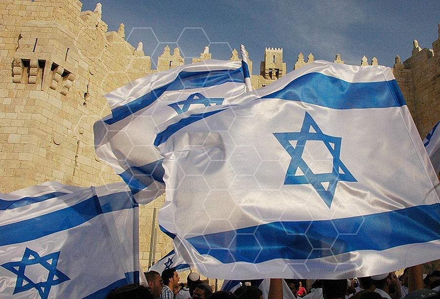 Israel Flag 058
