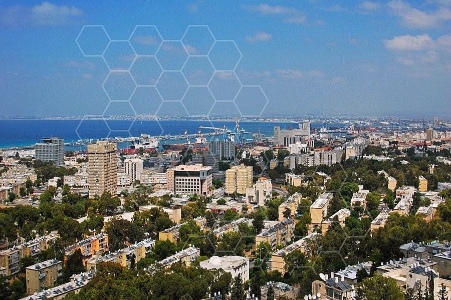 Haifa City View and Sea Port 0004