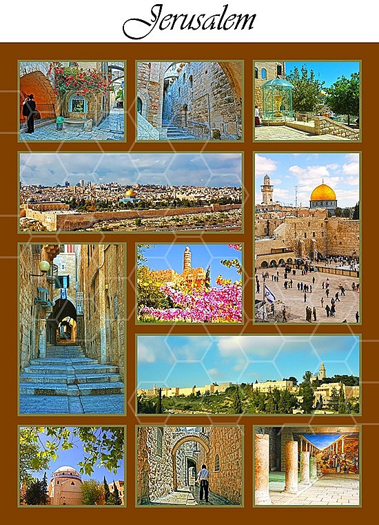 Jerusalem Photo Collages 017