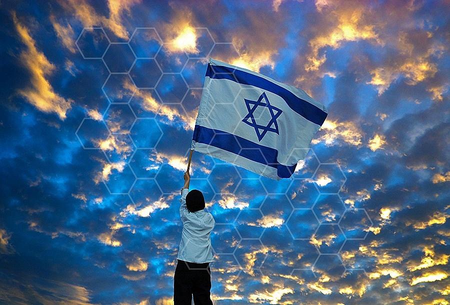Israel Flag 038