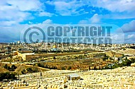 Jerusalem Old City View From Mt Of Olives 011
