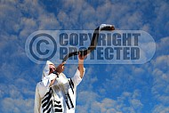 Blowing The Shofar 005