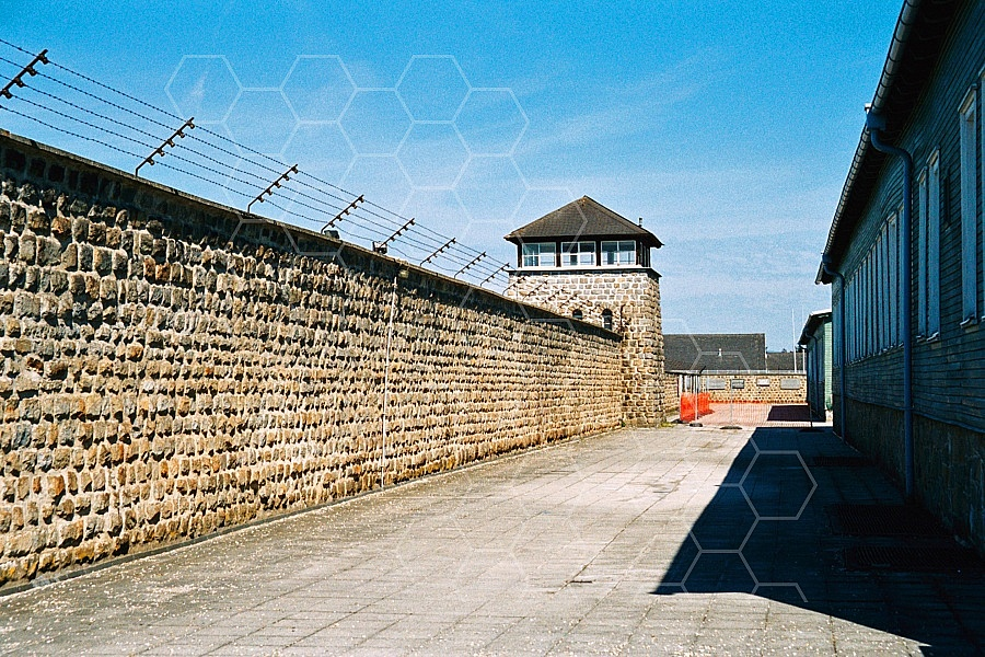 Mauthausen Camp Wall and Watchtower 0005