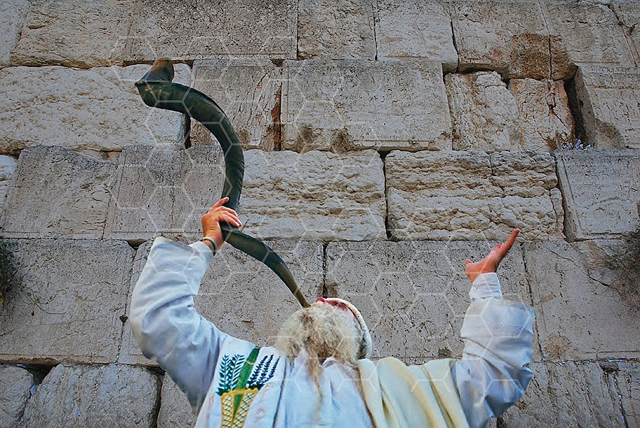 Kotel Blowing The Shofarf 011