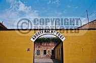 Terezin Courtyard and Entrance Gate 0005