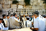 Kotel Torah Praying 013