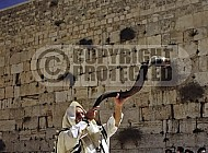 Kotel Blowing The Shofarf 024