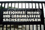 Sachsenhausen Close Up of Entrance Gate 0002