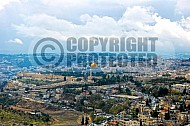 Jerusalem Old City View From Mt Of Olives 031