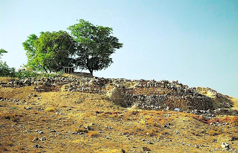 Tel Hazor City Walls 003