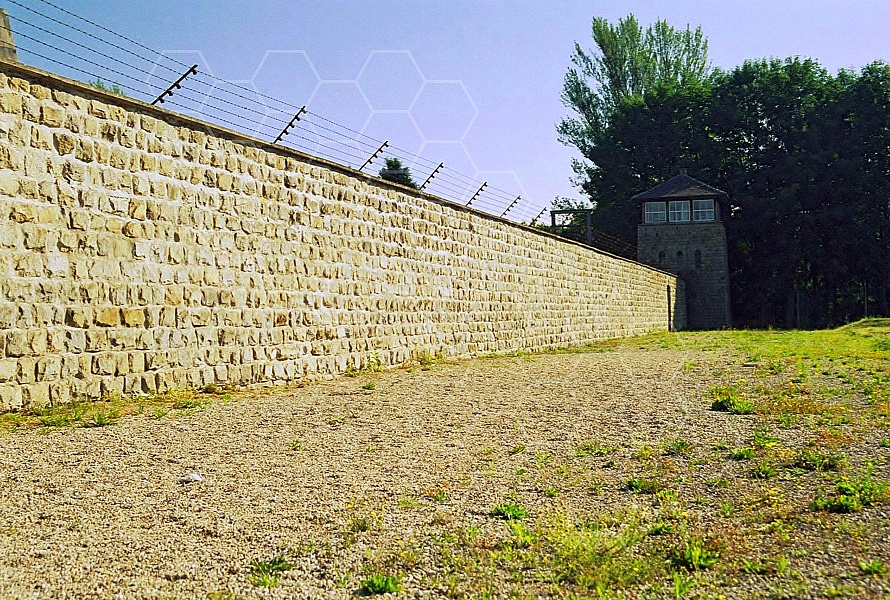 Mauthausen Camp Wall and Watchtower 0001