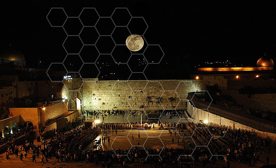 Kotel View At Night 001