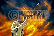 Blowing The Shofar 006