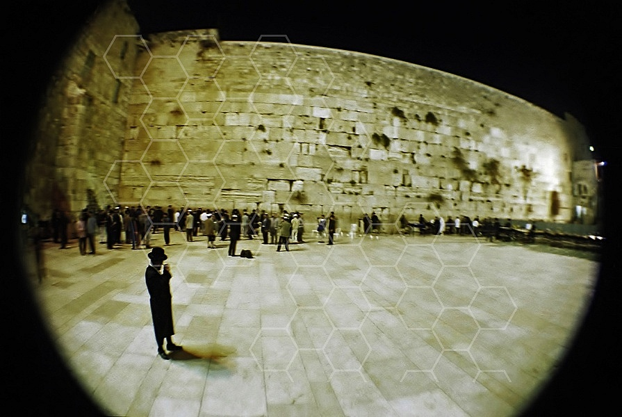 Kotel View at Night 0007