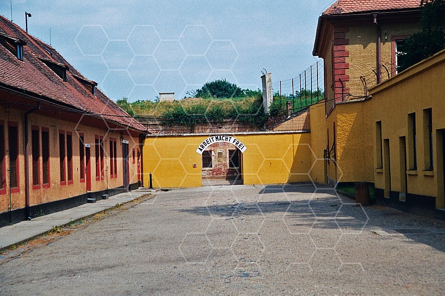 Terezin Courtyard and Entrance Gate 0001
