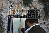 Kotel Torah Praying 010