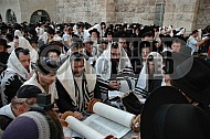 Kotel Torah Praying 036
