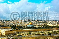 Jerusalem Old City View From Mt Of Olives 001