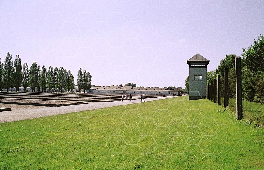 Dachau Fence and Wachtower 0008