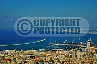 Haifa City View and Sea Port 0001