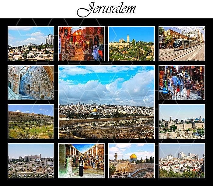 Jerusalem Photo Collages 006