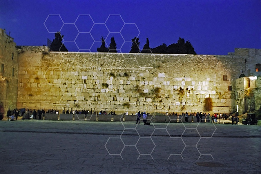 Kotel View at Night 0006