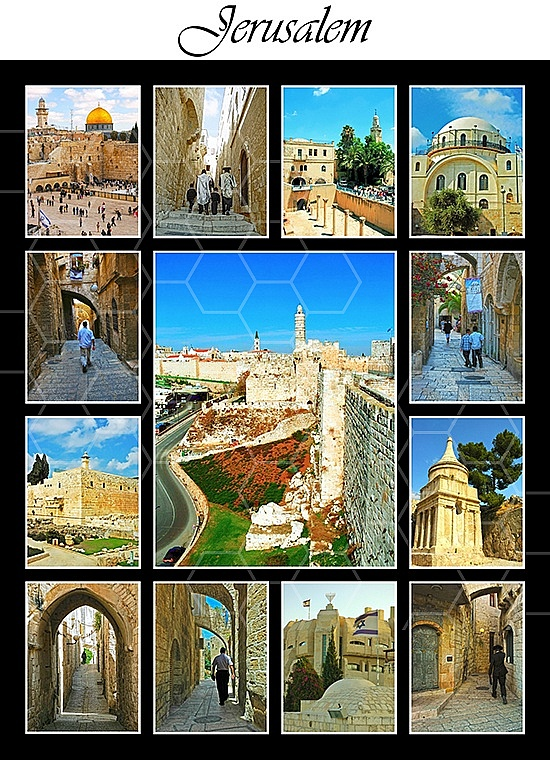 Jerusalem Photo Collages 015