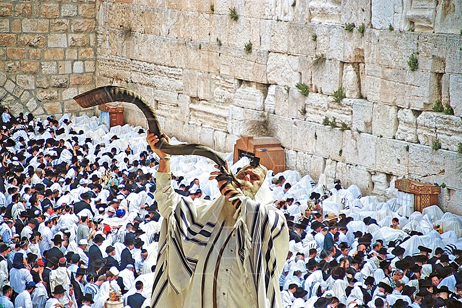 Kotel Blowing The Shofarf 013